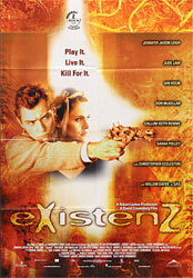 ;eXistenZ, 1999 movie poster;