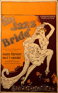 This poster for the 1926 film The Jazz Bride was scanned from an original in the Northernstars Collection