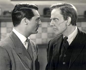 Cary Grant, Raymond Massey,