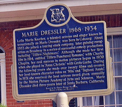 Photo taken at Marie Dressler's home was scanned from an original in the Northernstars Collection.
