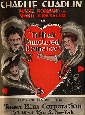 ;Tillie's Punctured Romance, ad;