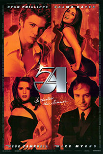 Poster for the 1998 movie, 54.