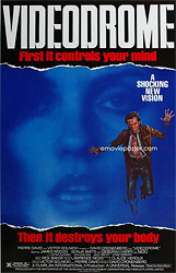 This 1993 poster for Videodrome was scanned from an original in the Northernstars Collection