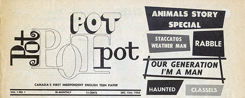 ;POT Masthead Vol.1 No.1;
