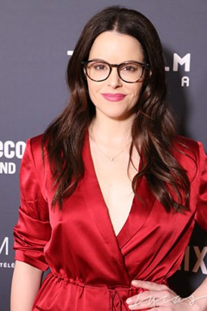 Emily Hampshire, actress,