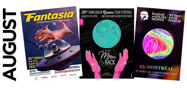 August 2019 film festival listings, image,