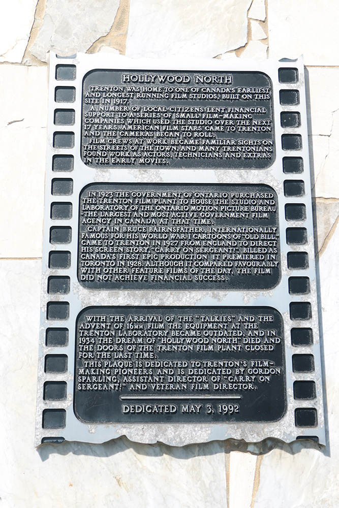 Hollywood North commemorative plaque , image,