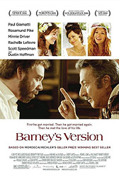 ;Barney`s Version, movie poster;