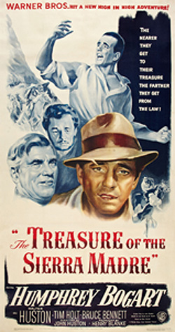 Walter Huston won an Academy Award for his work in Treasure of the Sierra Madre.