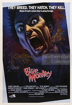 Blue Monkey, movie, poster,