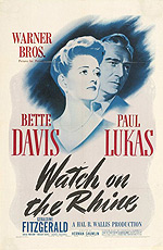 Watch on the Rhine, movie poster