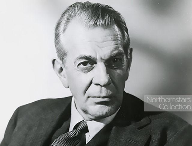 Raymond Massey, actor,