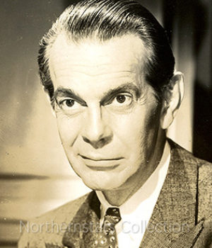 Raymond Massey, actor,