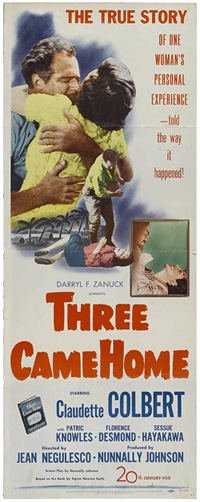 ;Three Came Home, movie poster;