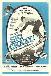 This poster for the movie Ski Crazy was scanned from an original in the Northernstars Collection.