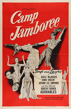 This poster for Camp Jamboree was scanned from an original in the Northernstars Collection.