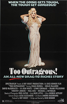 This poster for Too Outrageous was scanned from an original in The Northernstars Collection..