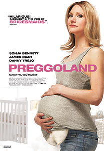 Poster for the 2014 movie Preggoland courtesy of Mongrel Media.