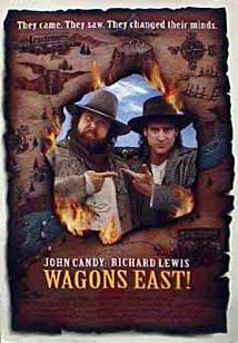 ;Wagons East!, movie poster;