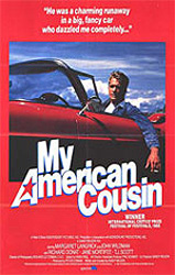 This poster for My American Cousin was scanned from an original in the Northernstars Collection.