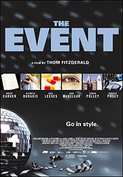 Poster for the 2003 movie The Event courtesy of ThinkFilm Canada