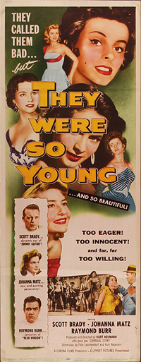 They Were So Young, movie poster