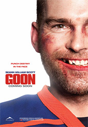 Movie poster for Goon courtesy of Alliance Films