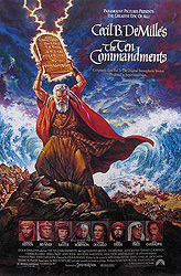 The 10 Commandments, 1956 movie poster