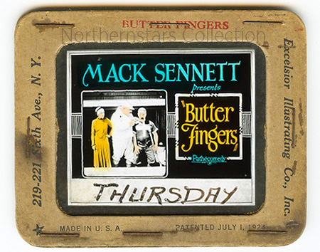 Butter Fingers, Mack Sennett, slide,