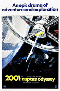 2001: A Space Odyssey, movie, poster,