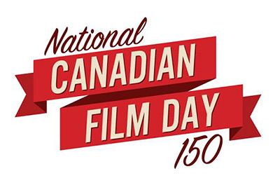 National Canadian Film Day 150, logo,
