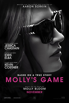 Molly's Game, movie, poster,