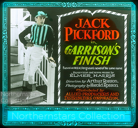 Jack Pickford, actor, Garrison's Finish