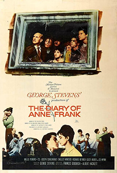 Lou Jacobi, The Diary of Anne Frank, movie, poster,