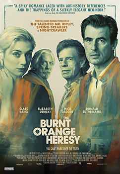 Burnt Orange Heresy, movie, poster,