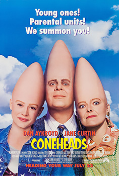 Coneheads, movie, poster,